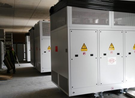 Positioning of transformers in a technical room