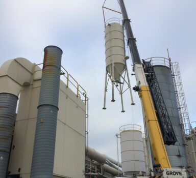 Rigging cooling tower