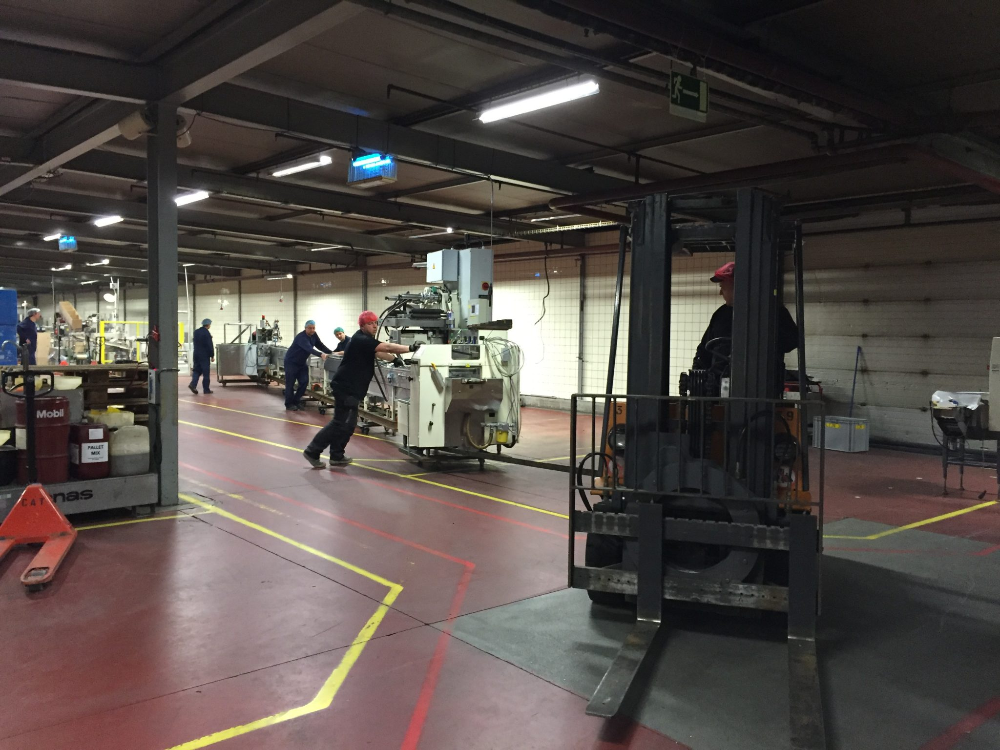 Industrial move: moving a production line