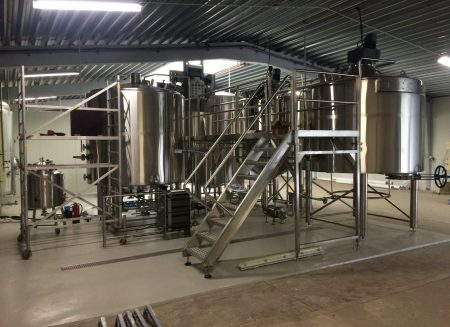 Installation production line of a Belgian brewery