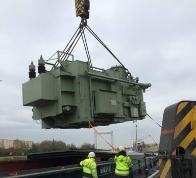 Moving a 90 MVA transformer in Liège